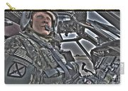 Hdr Image Of A Pilot Sitting Carry-all Pouch
