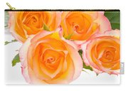 4 Roses Over White Carry-all Pouch