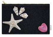 Starfish On Black Sand Carry-all Pouch by Joana Kruse