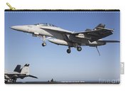 An Fa-18f Super Hornet During Flight Carry-all Pouch