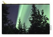 Aurora Borealis Above The Trees Carry-all Pouch