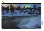 Aurora Borealis Over Tennevik River Carry-all Pouch