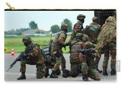 Belgian Paracommandos Entering Carry-all Pouch by Luc De Jaeger