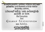 Hans Von Grimmelshausen Carry-all Pouch
