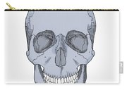 Illustration Of Anterior Skull Carry-all Pouch by Science Source