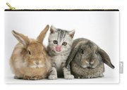 Kitten And Rabbits Carry-all Pouch
