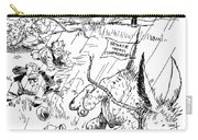 League Of Nations Cartoon Carry-all Pouch by Granger