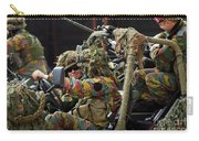 Members Of A Recce Or Scout Team Carry-all Pouch by Luc De Jaeger