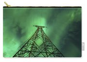 Powerlines And Aurora Borealis Carry-all Pouch by Arild Heitmann