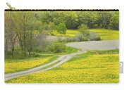 Spring Farm Landscape With Dandelion Bloom In Maine Carry-all Pouch