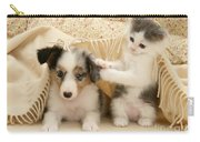 Kitten And Pup Carry-all Pouch