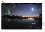 Aurora Borealis Over Long Lake Carry-all Pouch