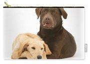 Labradoodle And Labrador Retriever Carry-all Pouch by Jane Burton