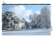 Snowy Scene In England Carry-all Pouch