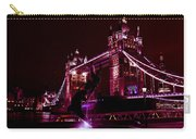 Tower Bridge And The Girl And Dolphin Statue  Carry-all Pouch