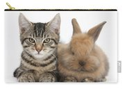 Kitten And Rabbit Carry-all Pouch