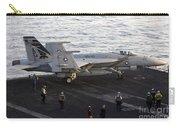 An Fa-18e Super Hornet During Flight Carry-all Pouch