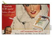 Chesterfield Cigarette Ad Carry-all Pouch