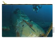 Diver Explores The Wreck Carry-all Pouch