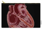Illustration Of Heart Anatomy Carry-all Pouch