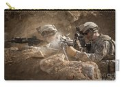 U.s. Army Rangers In Afghanistan Combat Carry-all Pouch by Tom Weber