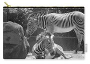 Zebras In Black And White Carry-all Pouch