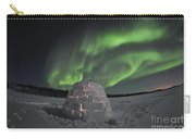 Aurora Borealis Over An Igloo On Walsh Carry-all Pouch