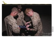 U.s. Marines Fold The American Flag Carry-all Pouch