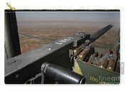 A .50 Caliber Machine Gun Points Carry-all Pouch by Stocktrek Images