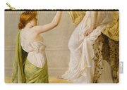 A Basket Of Roses - Grecian Girls Carry-all Pouch by Henry Thomas Schaefer