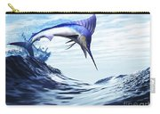 A Beautiful Blue Marlin Bursts Carry-all Pouch