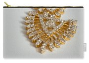 A Beautiful Gold And Diamond Pendant On A White Background Carry-all Pouch