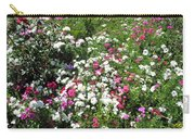 A Bed Of Beautiful Different Color Flowers Carry-all Pouch