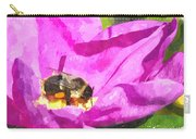 A Bee In A Rose Brpwc Carry-all Pouch