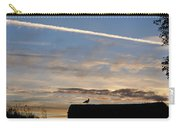 A Bird Outlined Against The Setting Sky At Dover Castle Carry-all Pouch