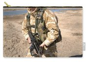 A British Army Soldier On Patrol Carry-all Pouch