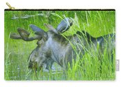 A Bull Moose Wading His Pond Carry-all Pouch