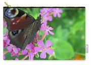 A Butterfly On The Pink Flower 2 Carry-all Pouch