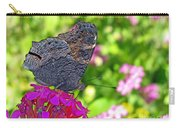 A Butterfly On The Pink Flower Carry-all Pouch