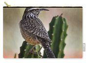 A Cactus Wren  Carry-all Pouch