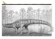 A Chirotherium Roams A Prehistoric Era Carry-all Pouch