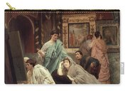 A Collector Of Pictures At The Time Of Augustus Carry-all Pouch by Sir Lawrence Alma-Tadema