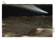 A Comet Passes Over The Surface Carry-all Pouch by Ron Miller