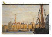 A Continental Harbor Carry-all Pouch by William Lionel Wyllie
