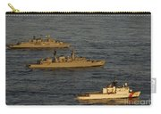 A Convoy Of Naval Ships Move Carry-all Pouch
