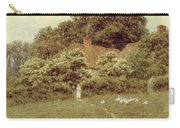 A Cottage At Farringford Isle Of Wight Carry-all Pouch by Helen Allingham