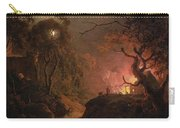 A Cottage On Fire At Night Carry-all Pouch