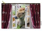 A Deer Enters The House Window. Carry-all Pouch
