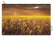 A Field Of Canola With A Rainbow Carry-all Pouch