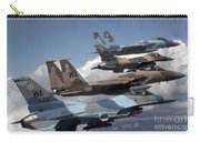 A Flight Of Aggressor F-15 And F-16 Carry-all Pouch